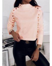 Дамска блуза в цвят праскова - код 2899