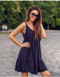 Дамска рокля с изрязан гръб в черно - код 008