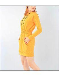 Спортна рокля в цвят горчица - код 7315