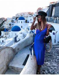 Изчистена рокля в цвят тъмно синьо - код 0005