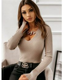 Елегантна блуза в кафяво - код 4140