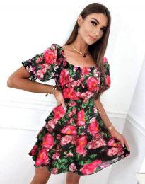 Дамска рокля с флорален десен - код 0466 - 2