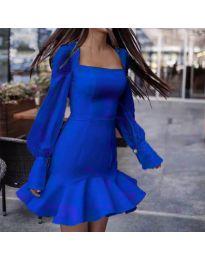 Елегантна рокля в тъмно синьо - код 3605