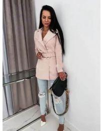 Дамско палто в розово - код 6061