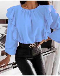 Ефектна дамска блуза в синьо - код 4445