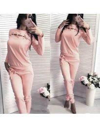 Дамски комплект в розово - код 8720