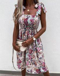 Дамска рокля с флорален десен - код 4535 - 1