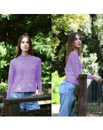 Дамска блуза в лилаво - код 912