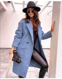 Дамско палто в светло синьо - код 7278