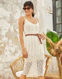 Дамска рокля в бяло - код 0351