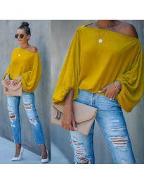 Дамска блуза в цвят горчица - код 5151
