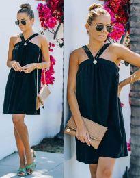 Атрактивна рокля в черно - код 9103