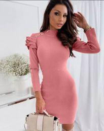 Дамска рокля в цвят корал - код 2915