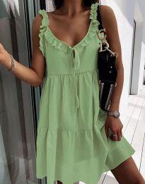 Дамска рокля в зелено - код 2540