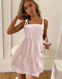 Свободна рокля в светлорозово - код 0316