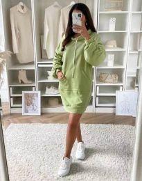 Спортна рокля в зелено - код 2949