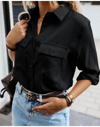 Изчистена дамска риза в черно - код 6148