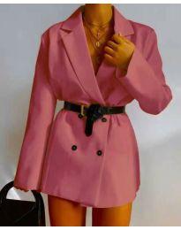 Дамско сако в цвят корал - код 6919