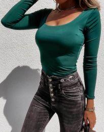 Екстравагантна дамска блуза в зелено - код 4833