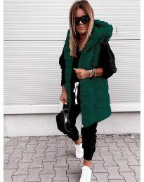 Дамски елек в тъмно зелено - код 8786