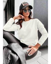 Дамска блуза в бяло - код 5582
