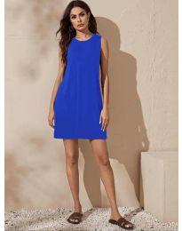 Изчистена рокля в синьо - код 3075