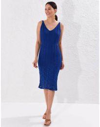 Дамска рокля в тъмносиньо - код 0351
