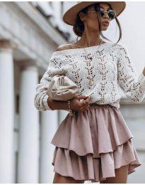 Дамски пуловер в бежово - код 5966