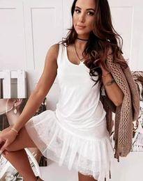 Дамска рокля в бяло - код 2994