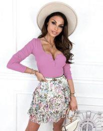Дамска блуза в лилаво - код 9054
