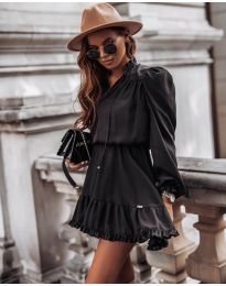 Свободна дамска рокля в черно - код 3231