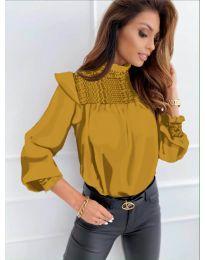 Дамска блуза в цвят горчица - код 6202
