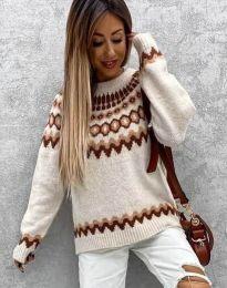 Ефектен дамски пуловер - код 0549 - 4