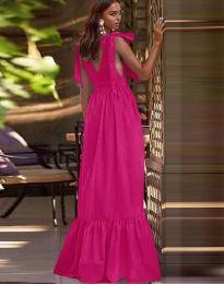 Дълга рокля в цвят циклама - код 2743