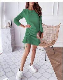 Дамска рокля в зелено - код 832