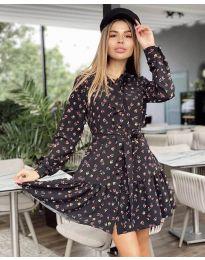 Дамска рокля с ефектен десен - код 6555 - 2