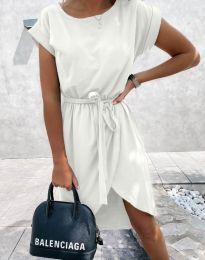 Дамска рокля в бяло - код 2074