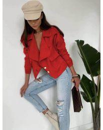 Дамско късо яке в червено - код 888