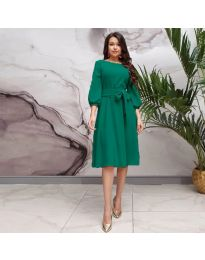 Елегантна рокля в зелено - код 4571