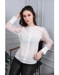 Елегантна дамска блуза в бяло - код 0631