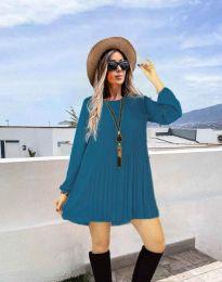 Дамска рокля в синьо - код 1430