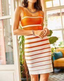 Атрактивна дамска рокля в оранжево - код 0998