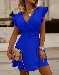 Ефирна дамска рокля в синьо - код 5654
