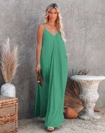 Свободна дамска рокля в бледозелено - код 4673