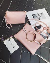 Дамска чанта от две части в розово- код B292