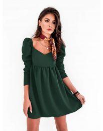 Елегантна рокля в зелено - код 390