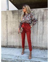 Елегантен панталон в цвят медно кафяво - код 788
