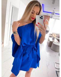 Елегантна дамска рокля в тъмносиньо - код 2315
