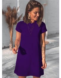 Изчистена рокля в лилаво - код 2299
