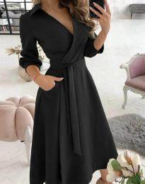 Елегантна дамска рокля в черно - код 2861